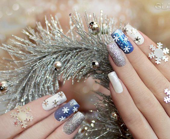 Красивый новогодний дизайн ногтей: фото идеи