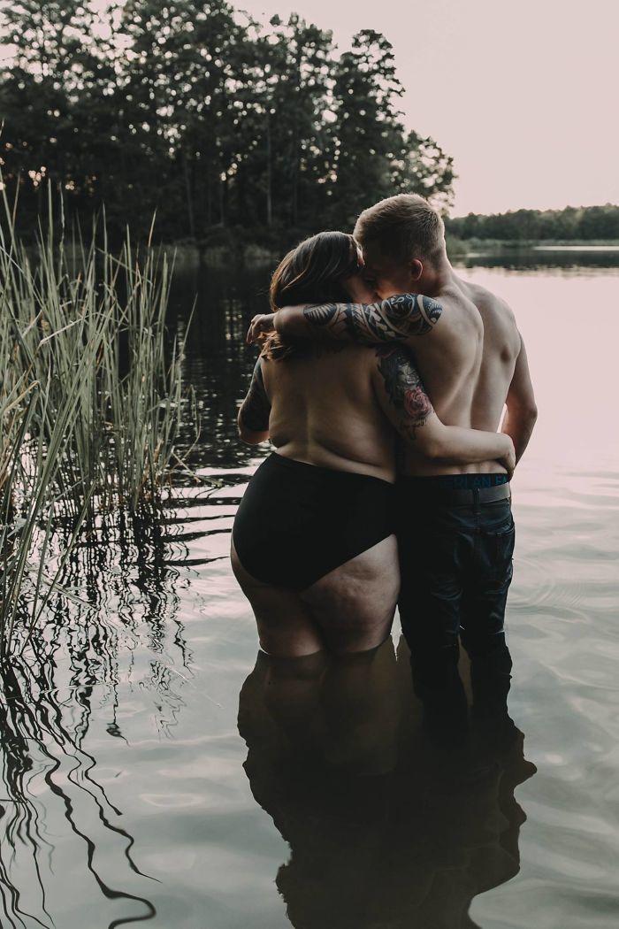 Полная девушка переживала насчет фотосессии с женихом. Реакция сети ее невероятно удивила: 80 тысяч перепостов!