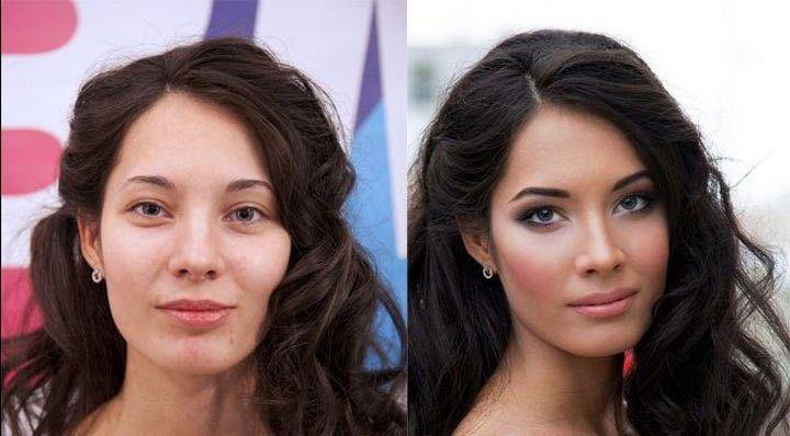 Она выглядит идеально, как на картине. Подожди, сначала посмотри на нее без макияжа!