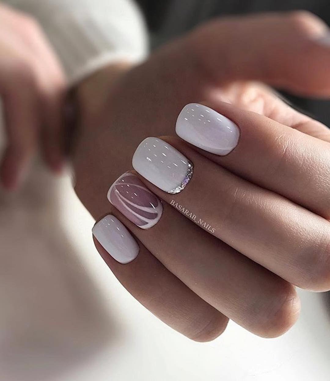 30 нежных аккуратных образа маникюра для коротких ногтей